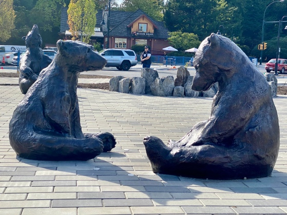 The Sleuth Bears in Lynn Valley, BC by Dam de Nogales, Veronica & Edwin